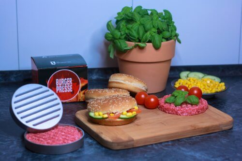BBQ-Solutions, Hamburger-Presse, Hamburgerpresse, Burgerpresse, BBQ, Grillen Frikadellen - 5
