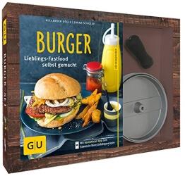 Burger-Set: mit antihaftbeschichteter Burgerpresse aus Aluguss (GU Buch plus) - 1
