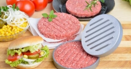 GRÄWE® Hamburgerpressen-Set - jetzt mit neuem Komfortgriff und 25 Blatt Backpapier - 2