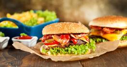bacon burger menu