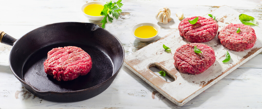 burgerpresse patties pfanne