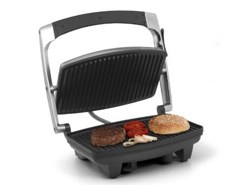 edelstahl kontaktgrill mit deckel tischgrill 1000 watt elektrogrill sandwichtoaster panini. Black Bedroom Furniture Sets. Home Design Ideas