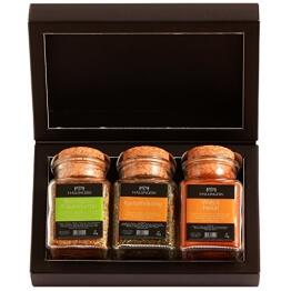 Hallingers Gewürz Mix Bayrisches BBQ Set/Mix 3 x Korkenglas in MiniDeluxe-Box 1, 1er Pack (1 x 190 g) - 1