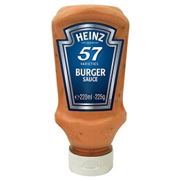 Heinz 57 Varieties Burger Sauce 225g - traditionelle 57 Burger Sauce - 1